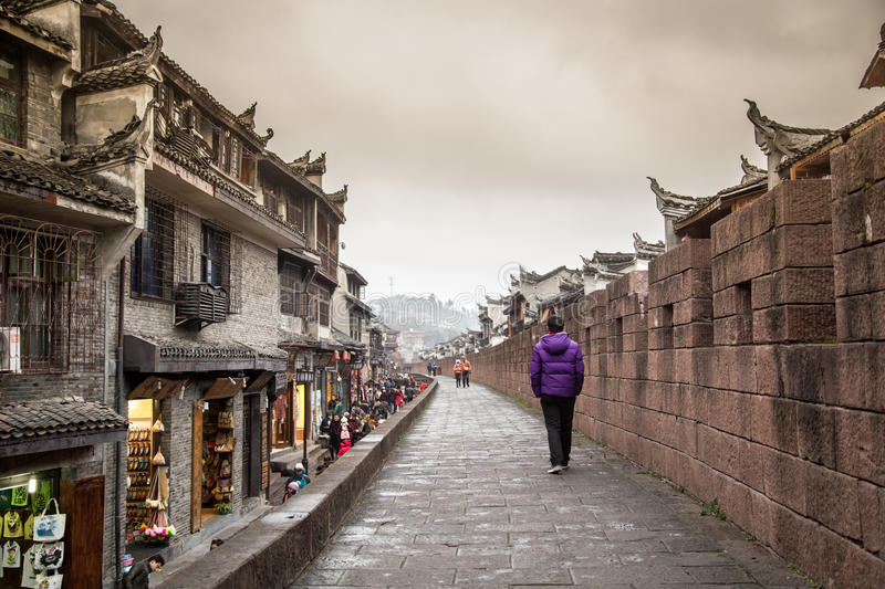 China ancient streets royalty free stock photography