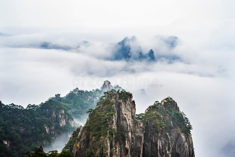 China anhui Mount Huangshan stock image