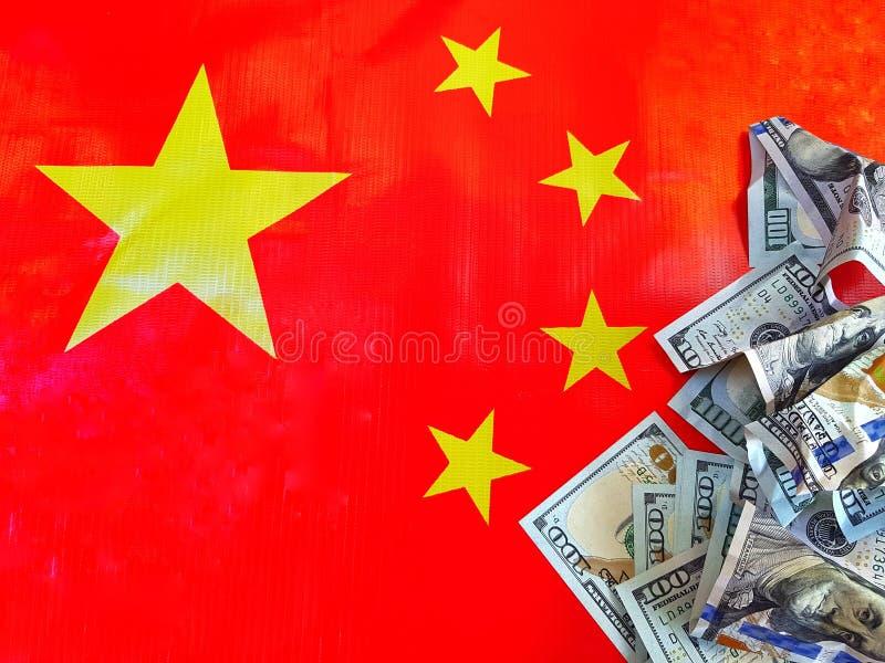 China anuncia a parede de um imposto de 25 por cento em importações dos EUA de 128 artigos Uso para o fundo do Web site/bandeira, imagens de stock royalty free