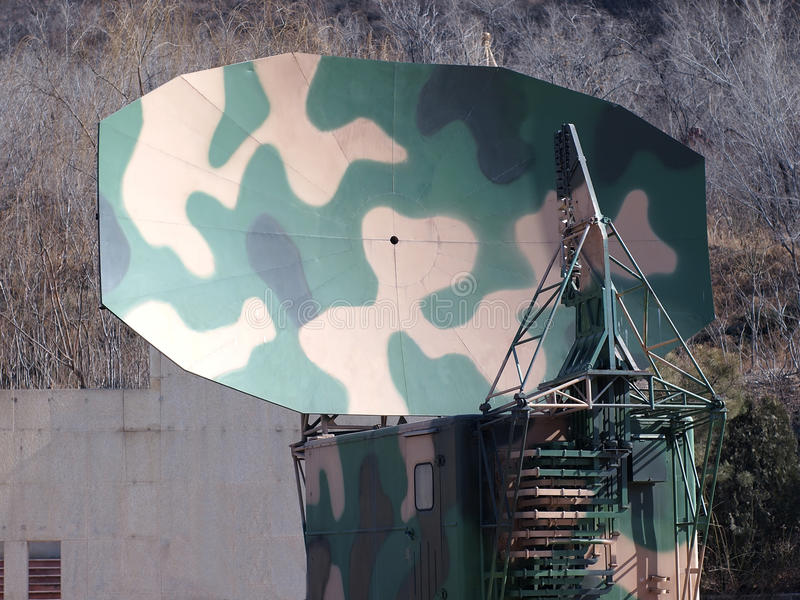 China-Armee, Militärradarstation lizenzfreie stockfotografie
