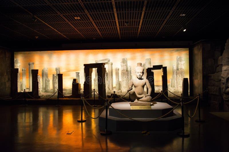 China Asia, Pekín, el museo capital, reliquias de Campuchea Angkor y Art Exhibition fotos de archivo libres de regalías