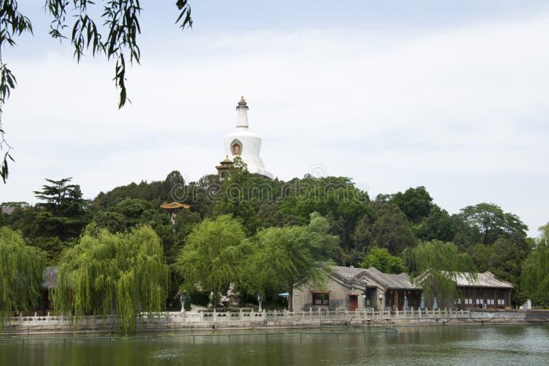 China Azië, Peking, Beihai-Park, de Witte Pagode stock fotografie