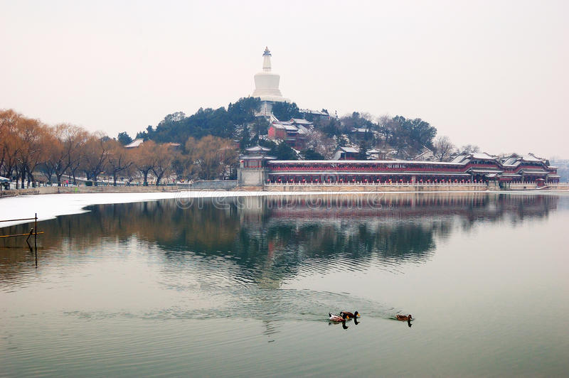 Download China Beijing  Beihai Park stock image. Image of architecture - 18718915