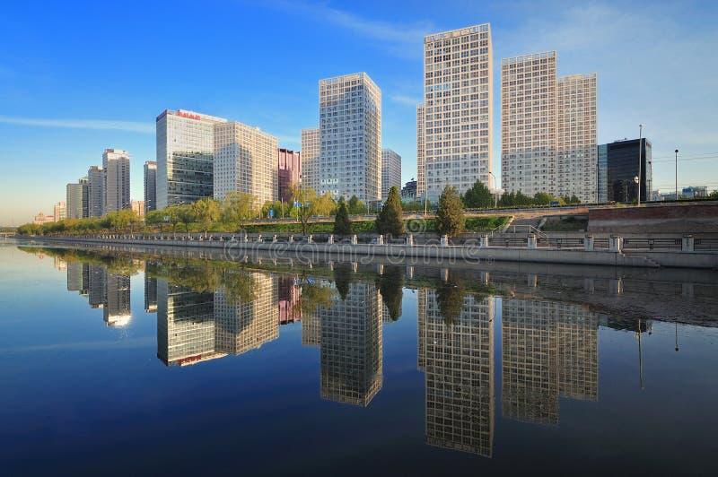 China Beijing CBD, prédio de escritórios urbano   foto de stock