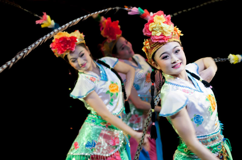China, Beijing Opera dance performances. The girls are dancing, they are arranged in Peking Opera as the prototype of the modern dance performance. From their royalty free stock photo