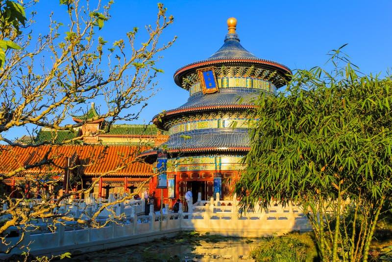 China bij Epcot-de wereld Florida van centrumdisney royalty-vrije stock fotografie