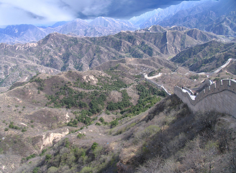 China bonita, Grande Muralha fotos de stock