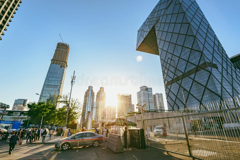China Central Television CCTV headquarters stock image