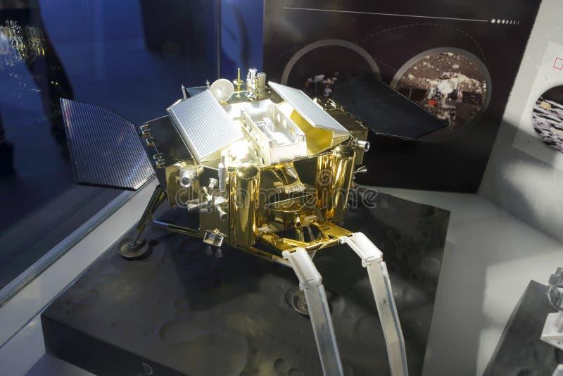 China chang e iii lunar probe model. The model of china chang e iii lunar probe stock photography