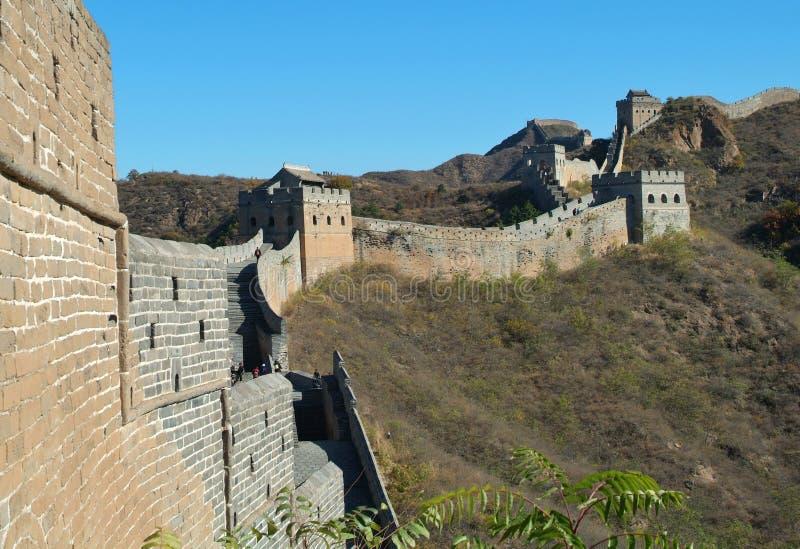 China-Chinesische Mauer stockbild