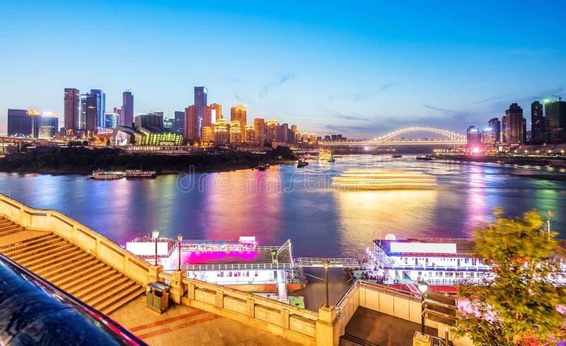 China Chongqing City Lights imagem de stock