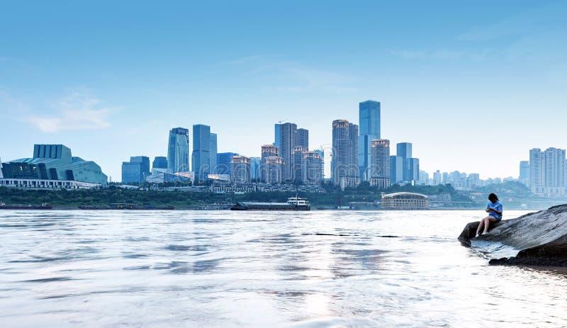 China Chongqing Urban Landscape royalty-vrije stock afbeelding