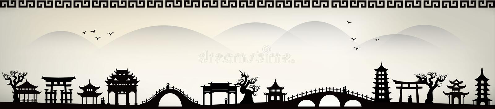 China city. Collection design element