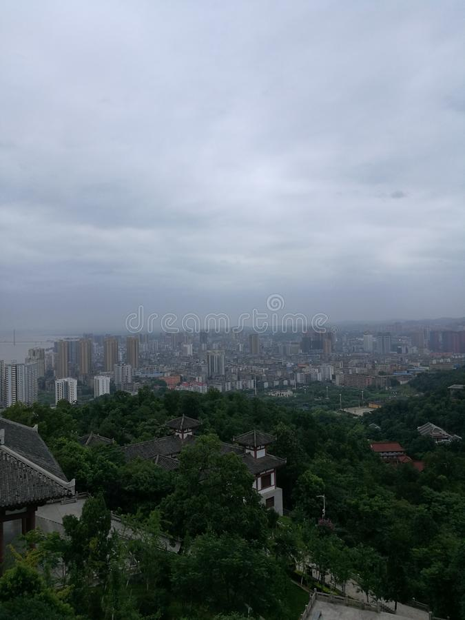 China city high level view. Cof ,china city in hubei provice which named     ezhou,nice view royalty free stock photography