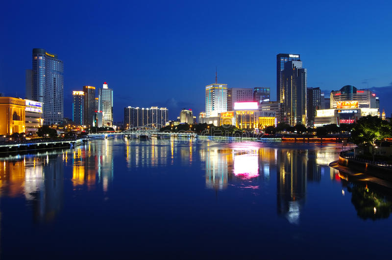 China city of Ningbo stock images