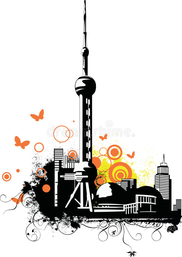 China City~Shanghai royalty free stock image