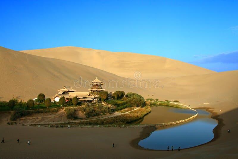 china crescent dun huang spring στοκ φωτογραφία με δικαίωμα ελεύθερης χρήσης