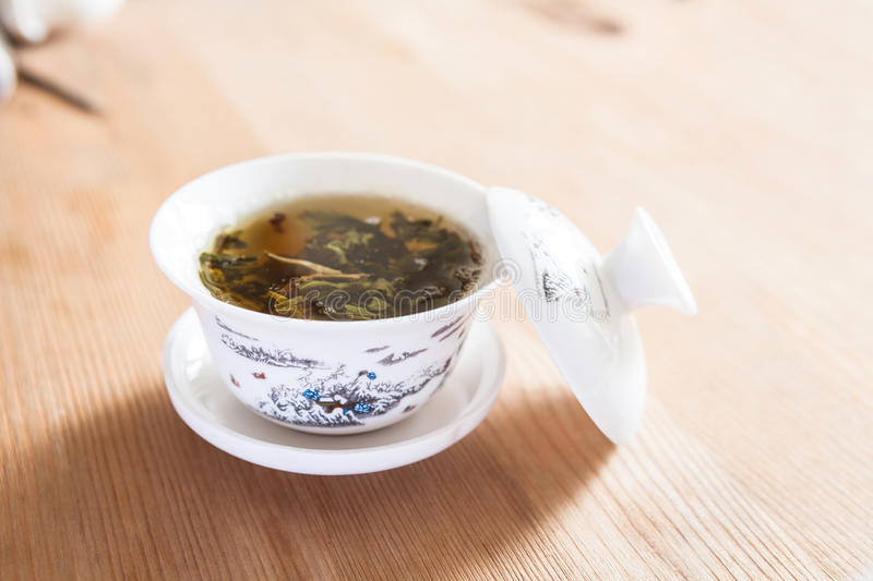 China cup and tea culture royalty free stock image