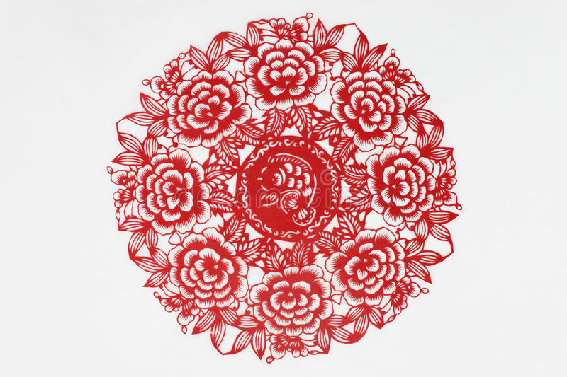 China cut paper by hand royalty free stock images