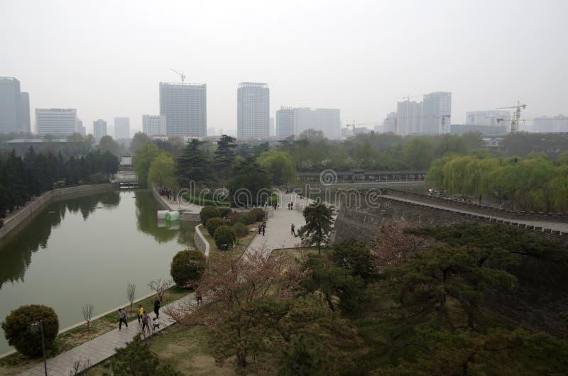 China de Hubei del parque de la ciudad de Handan fotos de archivo libres de regalías