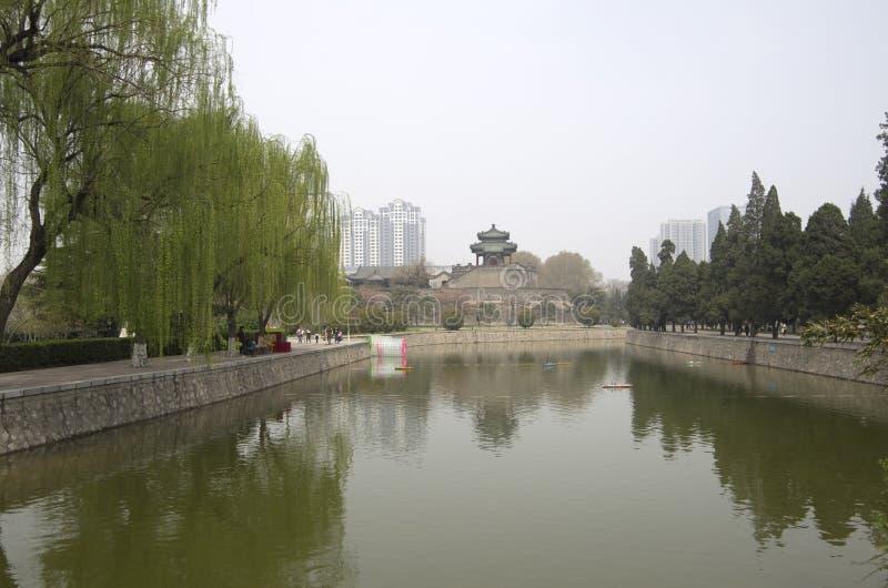 China de Hubei del parque de la ciudad de Handan imagenes de archivo