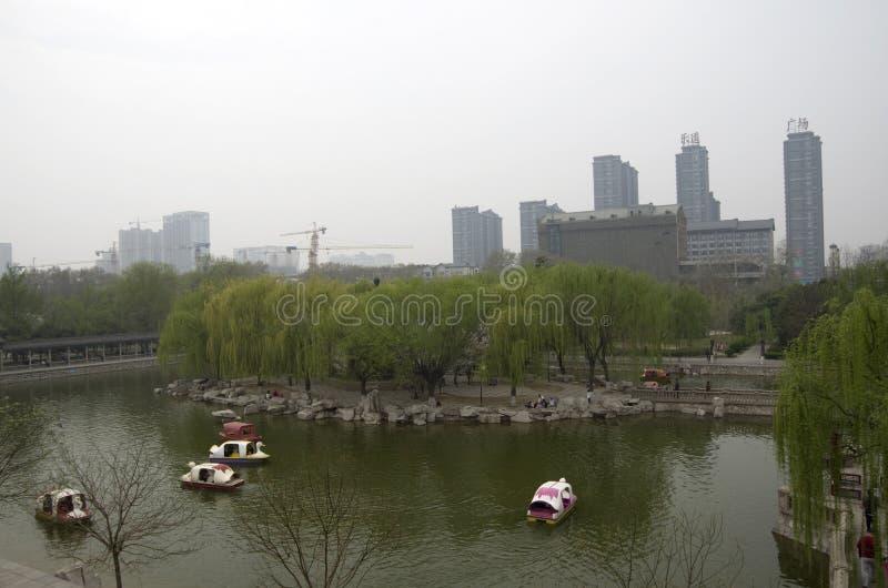 China de Hubei del parque de la ciudad de Handan foto de archivo