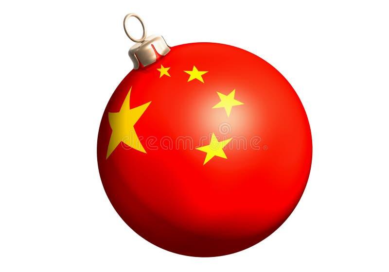 China de la bola del brillo stock de ilustración