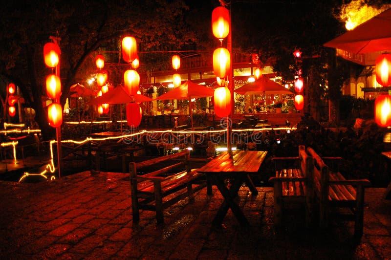 China de la noche imagen de archivo