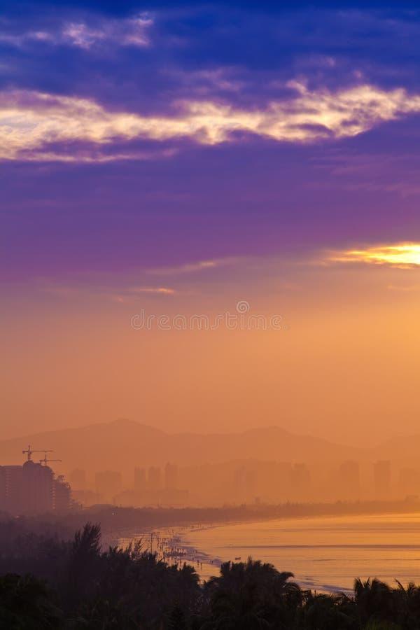 China de Sanya Hainan de la salida del sol foto de archivo libre de regalías
