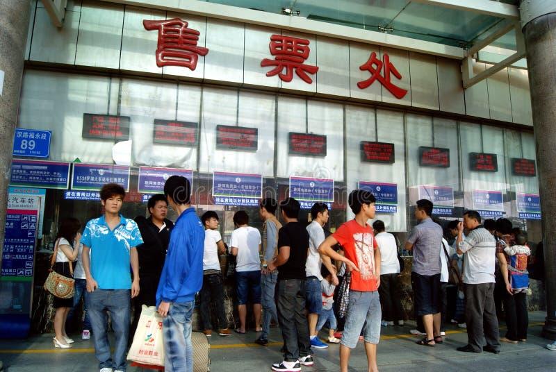 China de Shenzhen: término de autobuses del fuyong imagenes de archivo