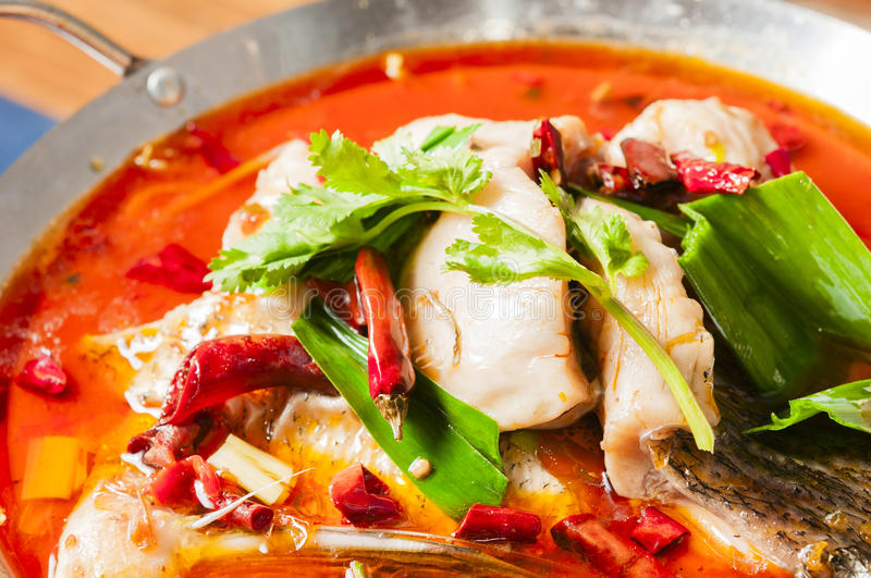 Chinese food--Boiled fish royalty free stock images