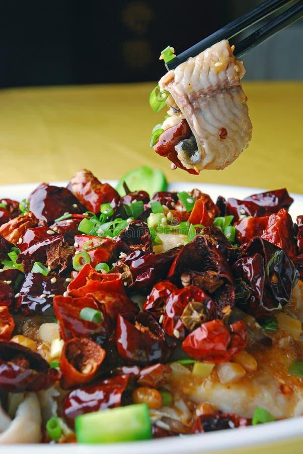China delicious food-- boiled fish royalty free stock image