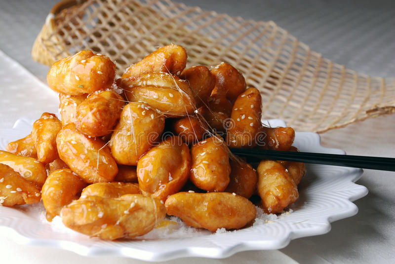 China delicious food--candied chinese yam royalty free stock image