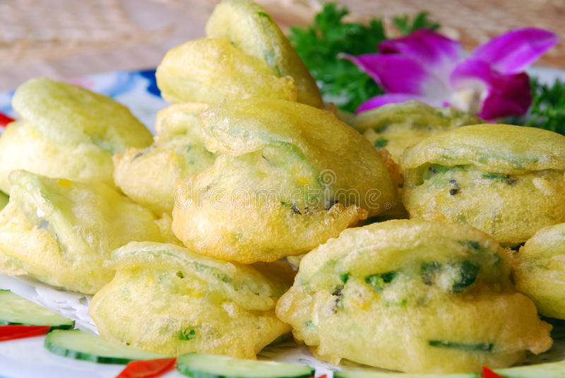 China delicious food--fried field mint leaves royalty free stock image