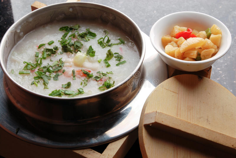 China delicious food-gruel and side dish royalty free stock photos