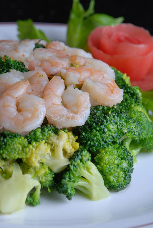 China delicious food--shrimp stock images