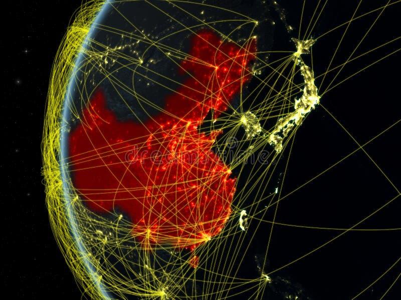 China do espaço com rede fotos de stock royalty free