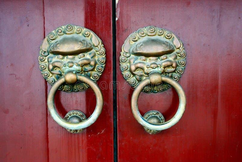 China door. China traditional door. Xian, China royalty free stock photography