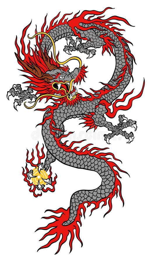 China-Dracheillustration vektor abbildung