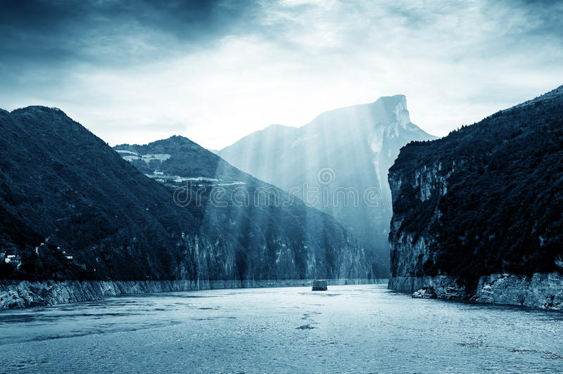 China Drie Kloven van Yangtze-Rivier stock afbeeldingen