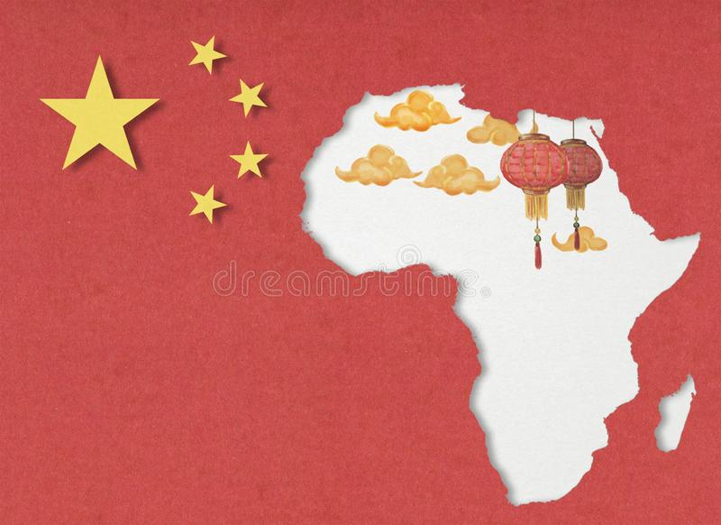 China en Afrika royalty-vrije stock foto