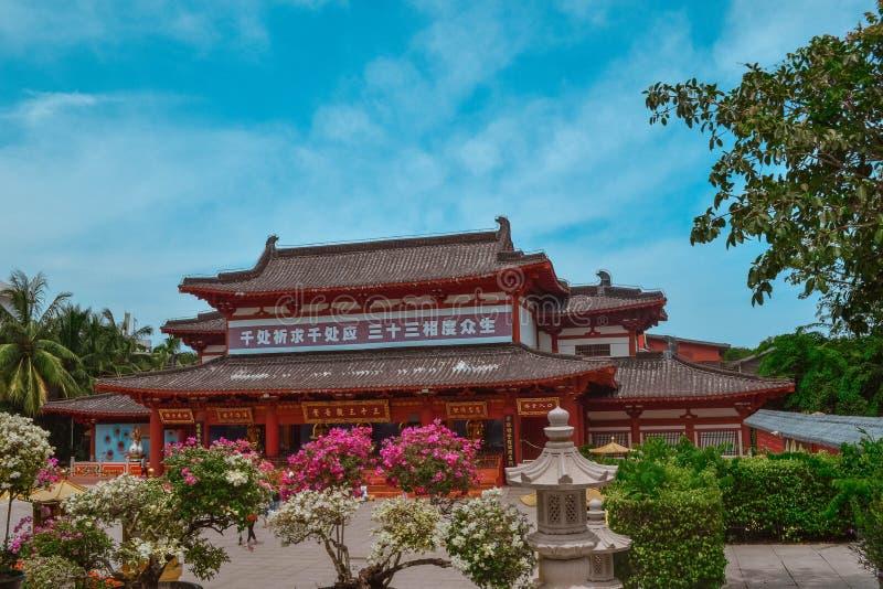 China ethnic buildings in Sanya Hainan.  royalty free stock photography