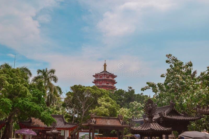 China ethnic buildings in Sanya Hainan.  royalty free stock photos