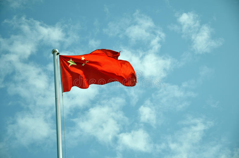 Download China flag stock photo. Image of wind, republic, blue - 12587252