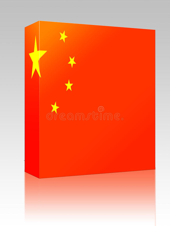 China Flag Box Package Stock Image