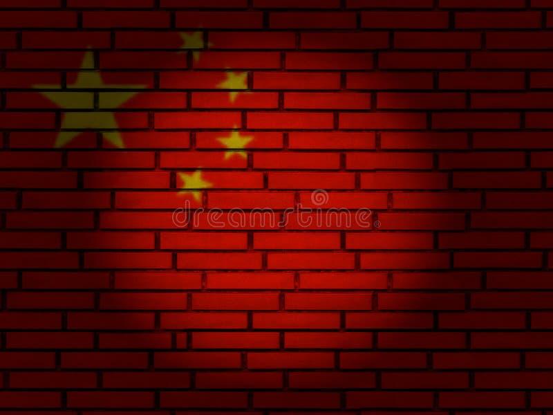 China flag brick wall royalty free stock photos