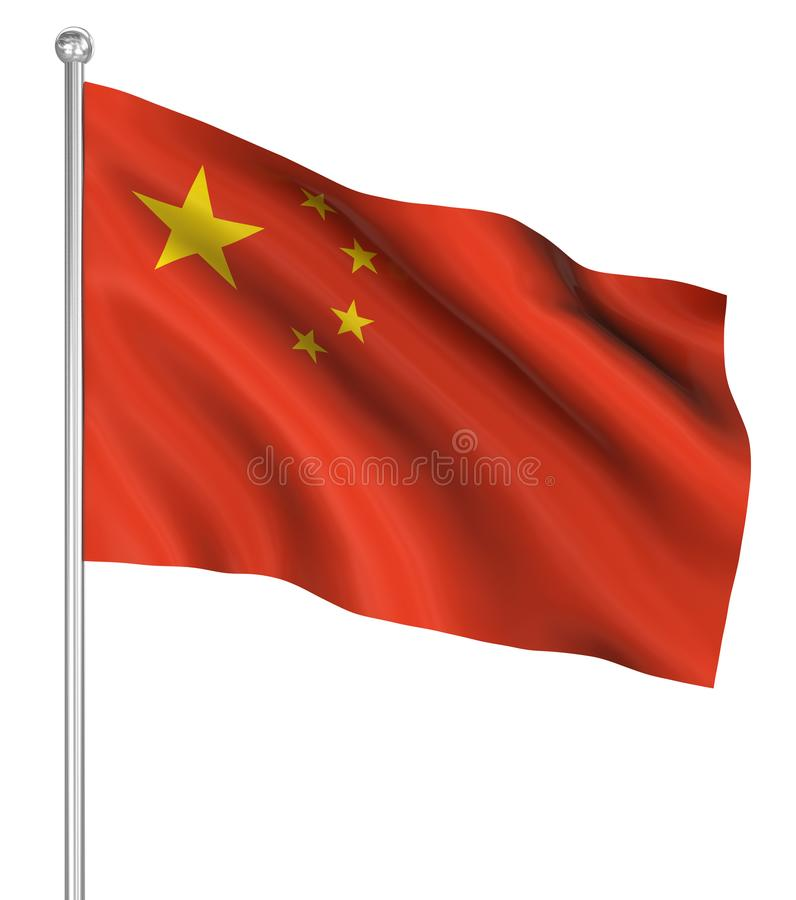 Country flag - China royalty free illustration