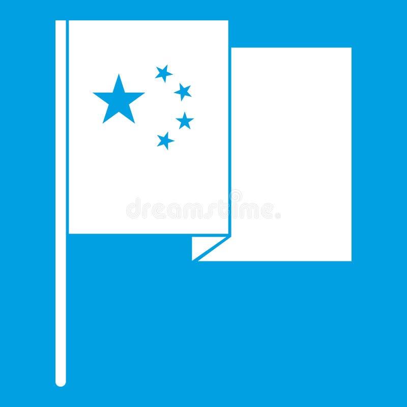 China flag icon white royalty free illustration