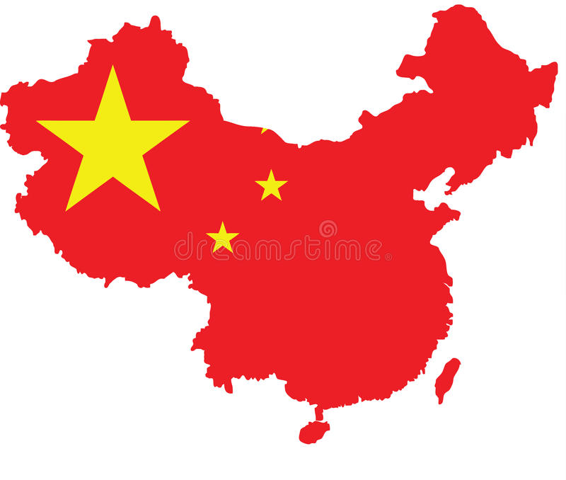 China Flag Map Vector Sketch Up Stock Vector Image 90798477