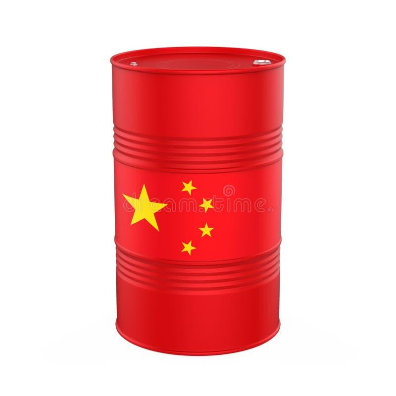 China Flag Oil Barrel royalty free illustration